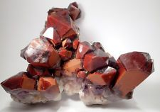 HUGE EX HEINI SOLTAU RED PHANTOM QUARTZ CLUSTER, ORANGE RIVER DISTRICT, NAMIBIA