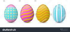 Colorful Easter eggs isolated on the white background. Collection of painted and decorated eggs. Easter Colors, Coloring Easter Eggs, Egg Decorating, Colorful, Painting, Collection, Easter, Painting Art, Paintings