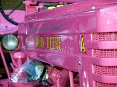 i wanna leav on this! all dustin said was a John deere!! hehehe   Pink John Deere