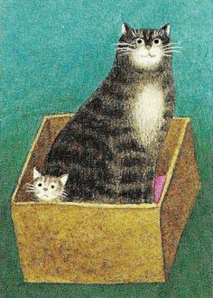 """""""Cat and kitten"""" by Jan Balet, 1980"""