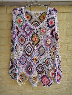 crochelinhasagulhas: cuadrado ropa (pequeña abuela cuadrada) crochet