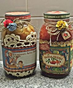 How to Decorate Graphic 45 Home Sweet Home Jars