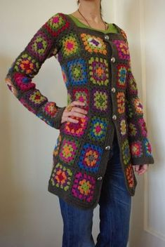Granny Sweater - I made one of these for my MIL in the 70's. I told her recently they are back in style and told her she should wear it and she said she gave it away! :(  Made me sad! If anyone ever makes you something, please don't give it away. Ask them if they want it back :)