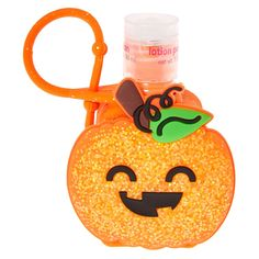 This festive holder features a glittery pumpkin and comes with scented hand lotions. Hands will be soft and smooth while collecting tricks-or-treats this Halloween.