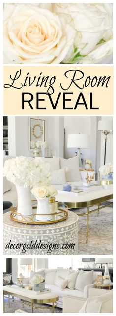 Beautiful  living room makeover reveal
