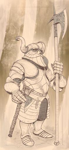 Dwarf- Heavy Infantry, Tuncer Eren on ArtStation at https://www.artstation.com/artwork/m4vr9
