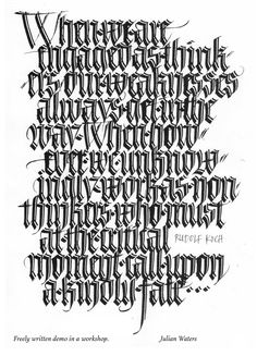 Link to Washington Calligraphers' Guild website Caligraphy Alphabet, Calligraphy Words, Penmanship, Modern Calligraphy, Calligraphy Classes, Gothic Text, Tattoo Lettering Styles, Gothic Lettering, Creative Lettering