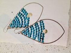 wire + bead wrapped earrings