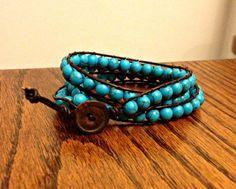 DIY wrap bracelet - turquoise