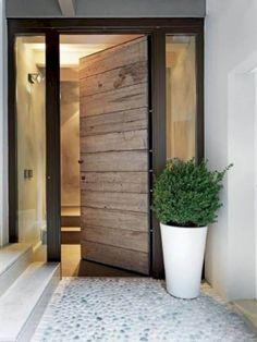 21 Trendy Black Front Doors for 2018 - inspiring home - Door Design Front Door Entrance, Exterior Front Doors, House Entrance, Front Door Decor, Exterior Shutters, Main Entrance, Entrance Foyer, Front Entrances, Front Entry