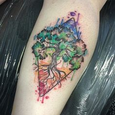 Chakra tree from Nottingham tattoo convention  cheers @leoriostattoos  for a…