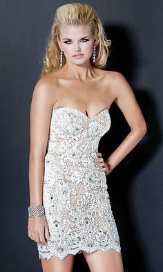 Short Strapless Jovani Dress 4607