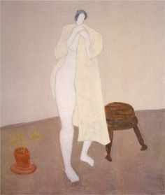 Robed Nude - Milton Averyv Artist: Milton Avery Completion Date: 1960 Style: Expressionism Genre: nude painting (nu)