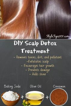 DIY Scalp Detox Treatment To Encourage Shine & Hair Growth - hair - Hair Treatment Diy Hair Care, Hair Care Tips, Hair Cut Diy, Diy Scalp Detox, Hair Cleanse, Hair Growth Mask Diy, Hair Masks, Diy Hair Treatment, Kinky Hair