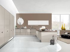Magasfényű taupe színű konyhabútor Grand Kitchen, Quirky Kitchen, Stylish Kitchen, Eat In Kitchen, Eclectic Design, Modern Design, Chicago Homes For Sale, Timber Ceiling, Dark Wood Cabinets