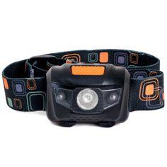 Strong Impact Resistant Headlamp Elastic Strap Black Camping Hiking Flashlight
