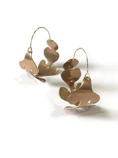 Matisse-inspired hoop statement earrings by Megan Auman