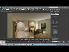 3dsMax-Tutorial 06-Modelling a Bedroom 3d Design, Creative Design, House Design, 3ds Max Tutorials, Video Tutorials, 3d Home Design Software, Modeling Tips, 3d Studio, 3d Tutorial