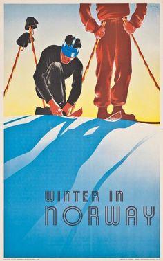 """Norwegen für harte Männer: """"Winter in Norway"""" von 1938. Schätzpreis: 3600 bis..."""