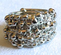 Anello saldato a mano, realizzato con STRASSSWAROVSKI  color crystal e metallonichelfree di LuceeColore su Etsy