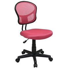Task Chair: Office Star Mesh Task Chair - Pink