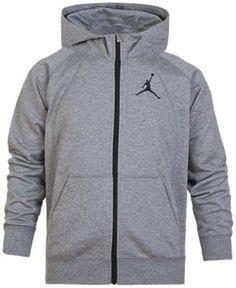 Jordan Fleece Full-Zip Hoodie, Big Boys (8-20) - Silver XL