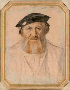Hans Holbein, Portrait of Charles de Solier, Sieur de Morette, 1534/35, Dresden, Kupferstich-Kabinett