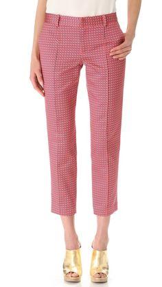 Thakoon Cropped Slim Pants