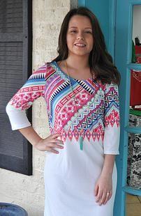 Summer Tribal Dress paisleypeacock | APPAREL