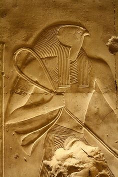 Relief from Abydos - Temple of Seti I. Egypt