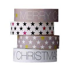 "Bloomingville Masking Tapes ""Weihnachten"", 4er Set, 1,5 cm"