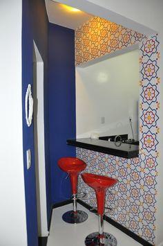 Ficou uma graça esse cantinho, flat no bairro do Flamento-RJ. Slim Plastt linha hidráulica um clássico.