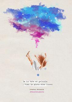 Se ha roto mi galaxia #microcuento #ilustración #color #galaxia #digitalpainting #illustration #drawing