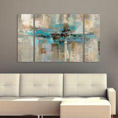 Silvia Vassileva Morning Fjord 3-Piece Canvas Wall Art Set