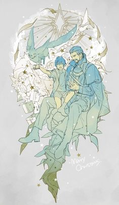 King Regis and Prince Noctis. Final Fantasy XV.