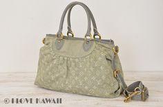 Louis Vuitton Grey Monogram Denim Neo Cabby Hand Bag With Strap M95837