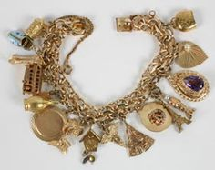 Vintage Charm Bracelet 14K Gold Mechanical 1/2 | Antique Helper