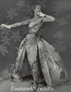 Couture Allure Vintage Fashion: Vintage Evening Gowns - 1955; Patou