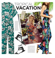 """Tropical Print"" by genuine-people ❤ liked on Polyvore featuring Topshop and Skinnydip"