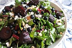 The Stockholm Beet, Blueberry & Kale Salad Recipe Blueberry Kale Salad, Kale Salad Recipes, Beets, Stockholm, Fruit, Vegetables, Cooking, Kitchen, Food