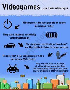 Os comuns e duvidáveis argumentos das vantagens de se jogar videogame. Nunca encontrei uma pesquisa séria que comprovasse qualquer um desses pontos.