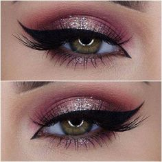 make up guide Makes para as festas de fim de ano make up glitter;make up brushes guide;make up samples; Cute Makeup, Prom Makeup, Gorgeous Makeup, Pretty Makeup, Perfect Makeup, Sweet 16 Makeup, Party Eye Makeup, Bridal Makeup, Easy Makeup Looks