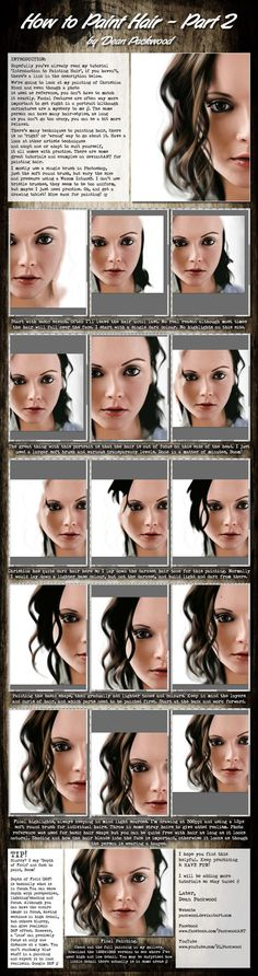 My tutorial on how I painted Realistic Hair in my Christina Ricci portrait that I hope you will find useful. Speed painting video on YouTube here: youtu.be/MMbl40oPwFs Final Painting:   I...