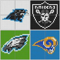 NFL AC Patterns (Carolina Panthers, Oakland Raiders, Philadelphia Eagles and the St. Louis Rams) by Gamekirby on deviantART
