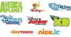 Animal Planet, Baby TV, Boomerang, Disney Channel, Disney Junior, Disney XD, Nicktoons, Nick Junior