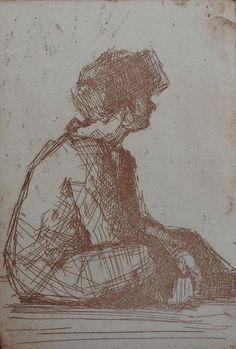 Paula Rubino, Brown Nina, 6 x 4 in, etching