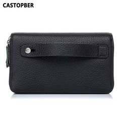 Check current price Crocodile Genuine Leather Double Zipper Wallet Mens Day Clutch Business Men Long Purse Cowhide Wallets High Quality Famous Brand just only $33.15 with free shipping worldwide  #walletsformen Plese click on picture to see our special price for you