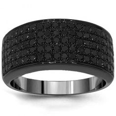 10K Black Rhodium Mens Black Diamond Wedding Band 2.68 Ctw this is a top contender in the ring picks