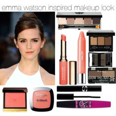 Emma Watson inspired makeup look by cupckakeharry on Polyvore featuring beauty, Bobbi Brown Cosmetics, Sisley, L'Oréal Paris, Tom Ford, NYX, Clarins, Rimmel, Maybelline and shu uemura