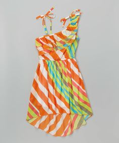 Look at this Orange Striped Island Dress - Toddler & Girls on #zulily today!